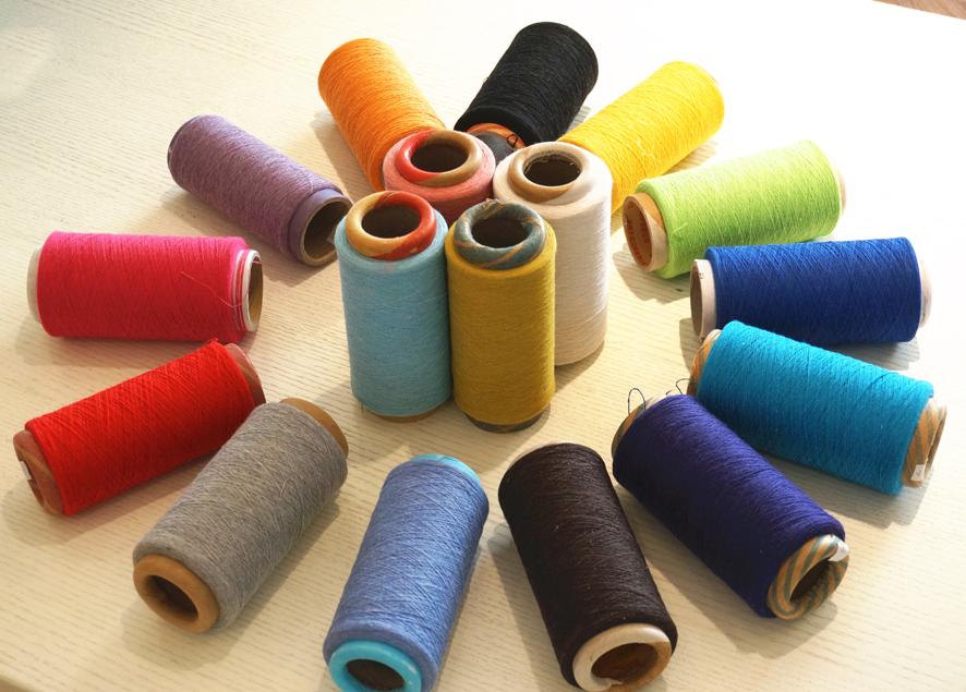 其他色再生棉手套紗