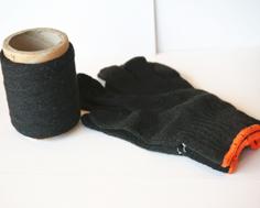 黑色再生滌棉手套紗