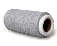 煙灰色再生棉手套紗